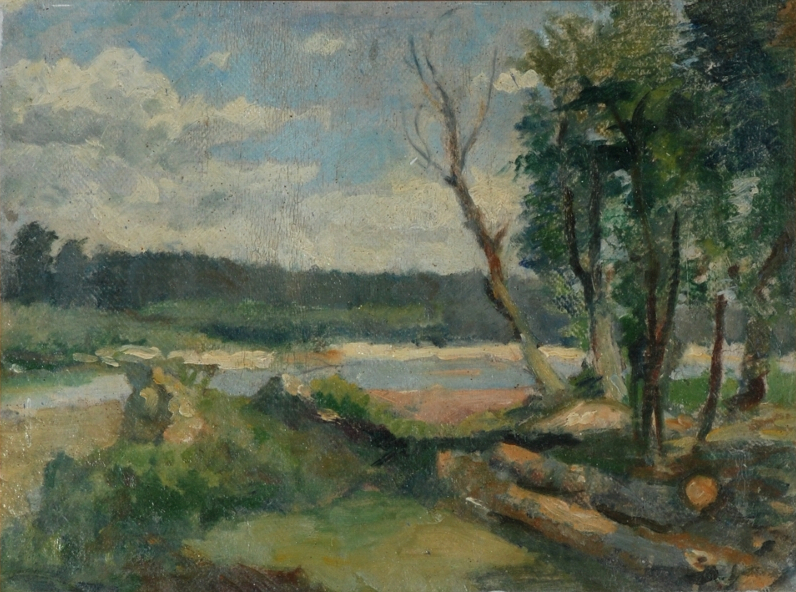 Landscape on the Oltet river